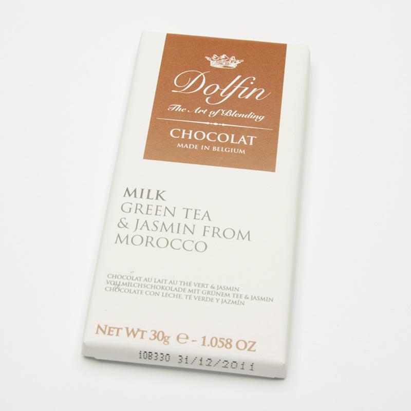 Dolfin Čokoláda mléčná se zeleným čajem a jasmínem 30 g