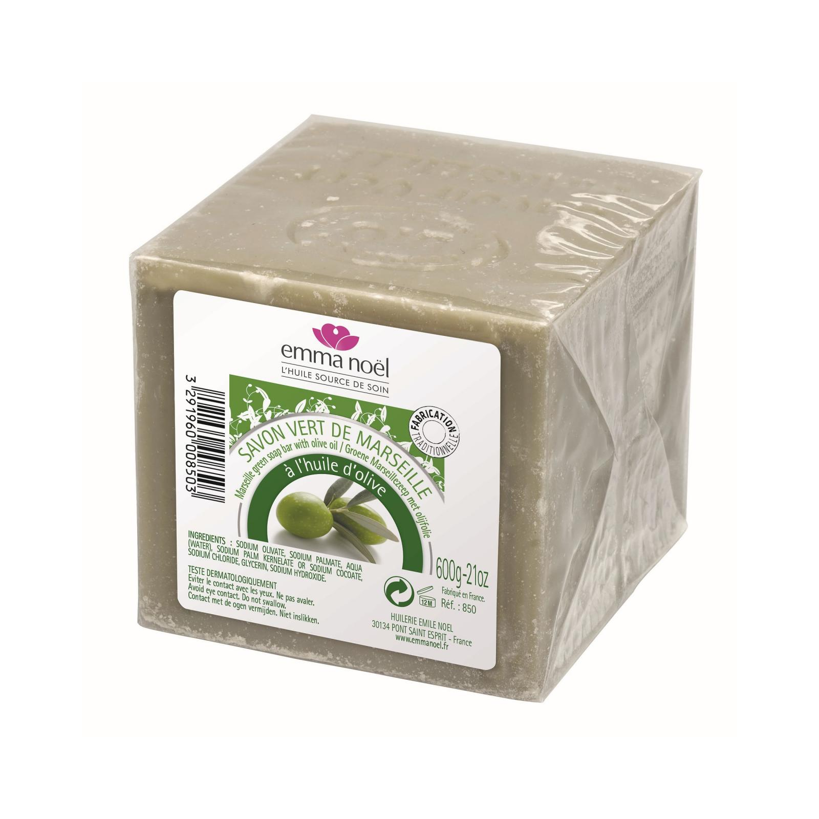 Emma Noel Mýdlo marseillské, zelené 600 g