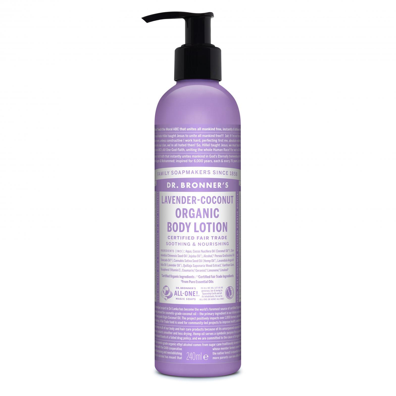 Dr. Bronner´s Tělové mléko Lavender Coconut 240 ml