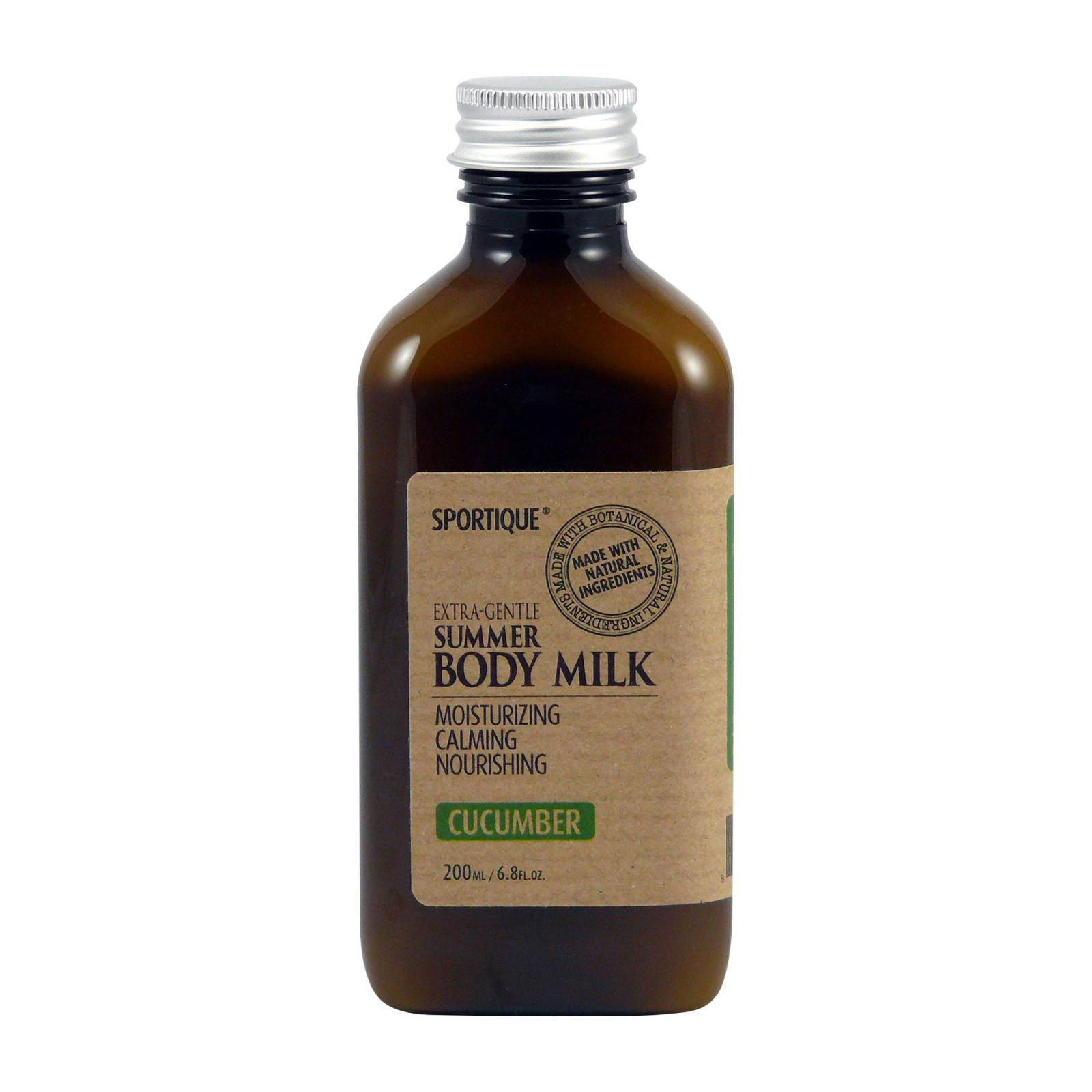 Sportique Tělové mléko Okurka 200 ml