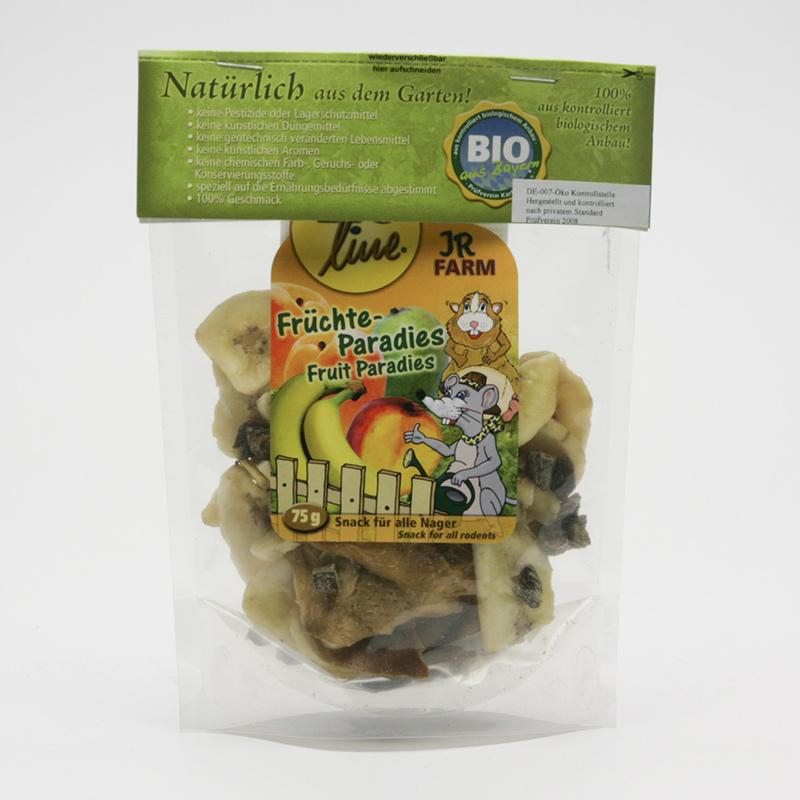 JR Farm Biopamlsky pro hlodavce, Fruit Paradise 75 g