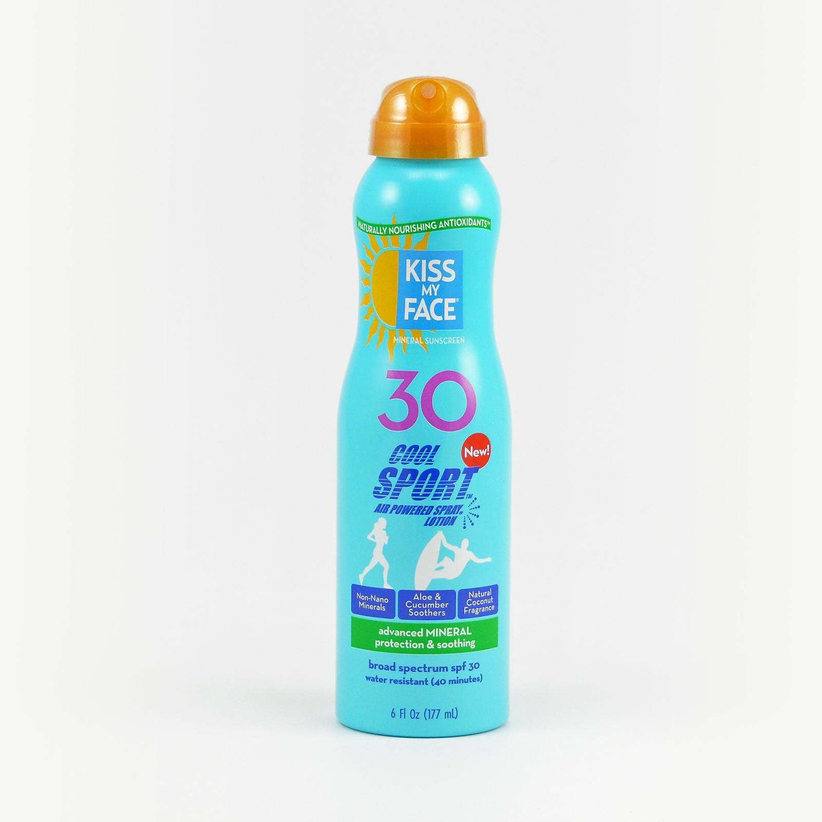 Kiss My Face Corp. Opalovací mléko SPF 30 ve spreji, Cool Sport 177 ml