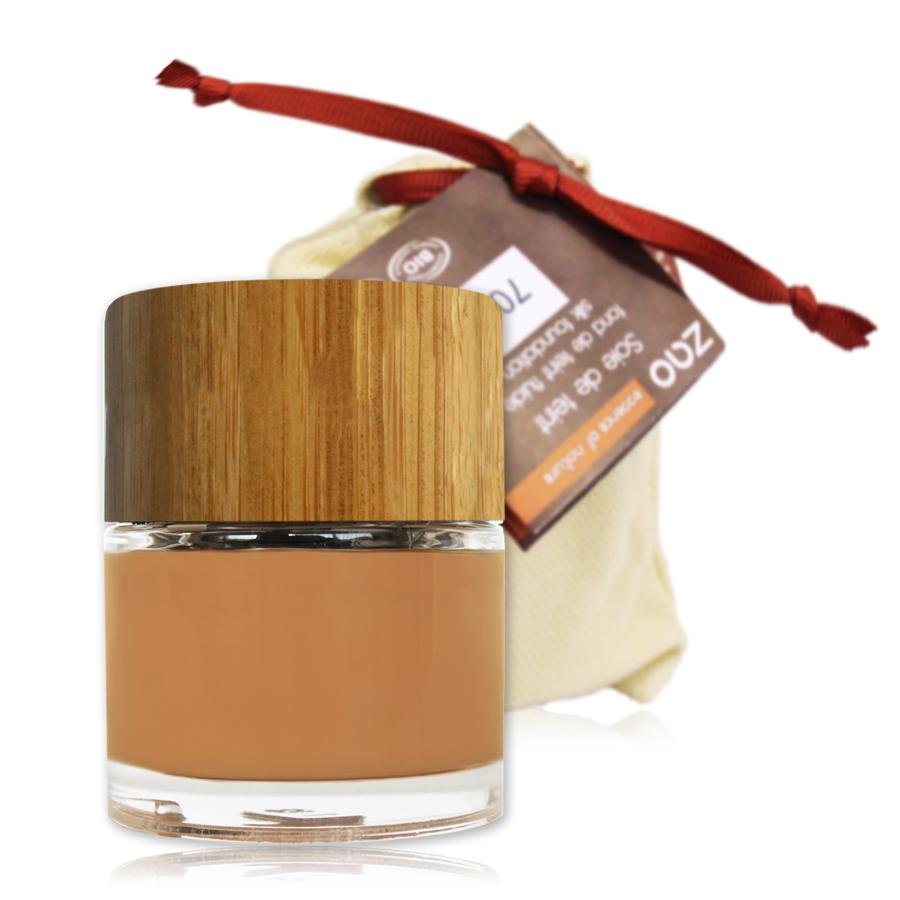 ZAO Hedvábný tekutý make-up 702 Apricot 30 ml bambusový obal