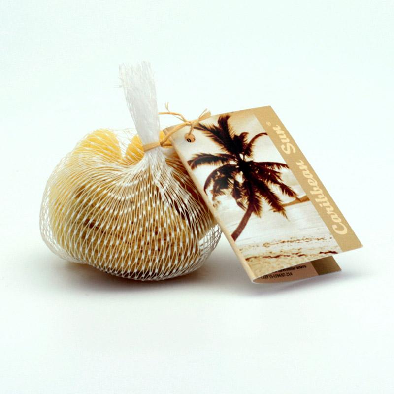 Caribbean Sun Mořská jemná kosmetická houba Silk SPS3 171 3 ks, 3-5 cm