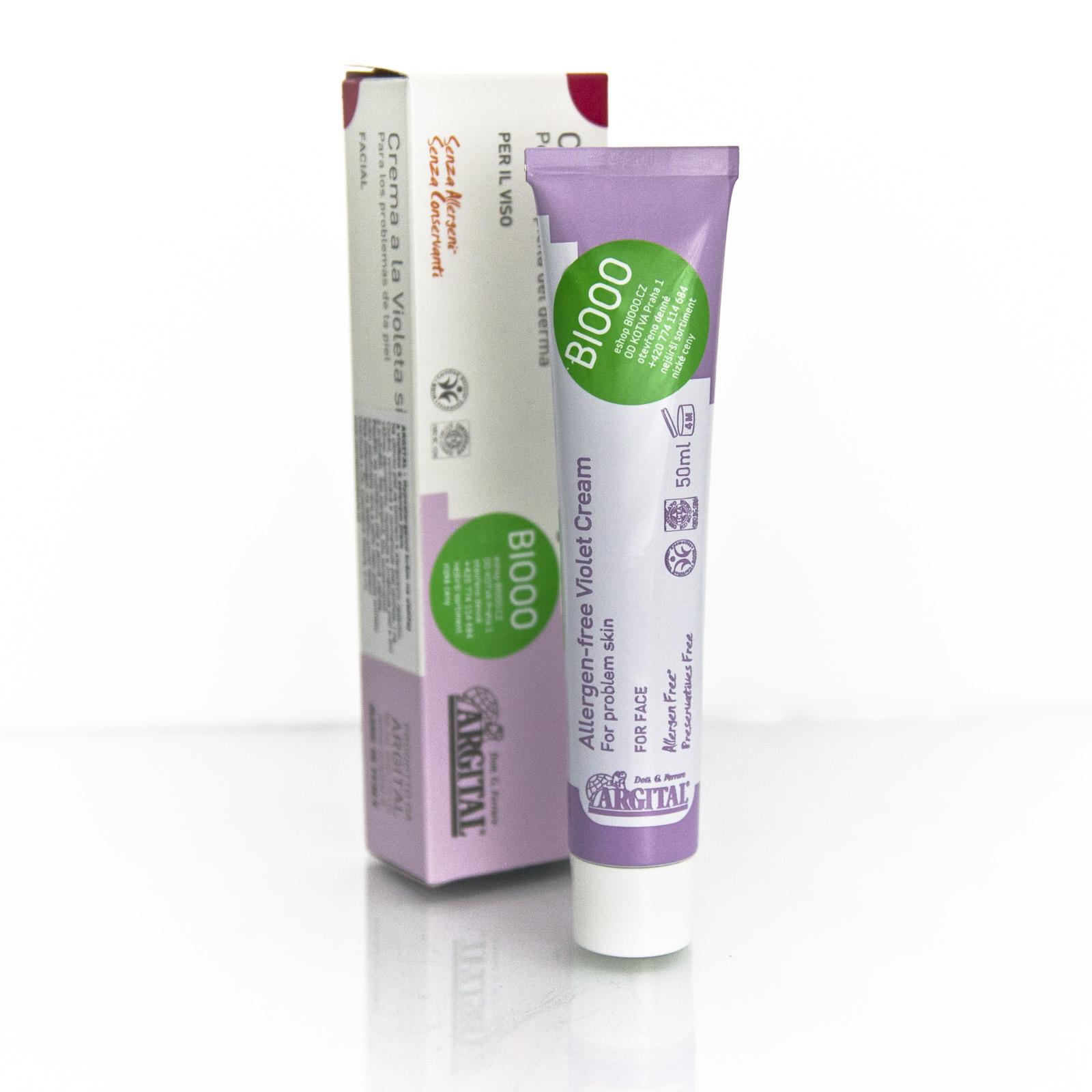Argital xHypoalergenní krém na obličej s violkou a jílem 75 ml