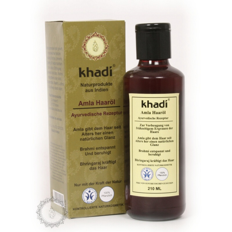 Khadí Vlasový olej Amla pro zdraví a lesk 210 ml