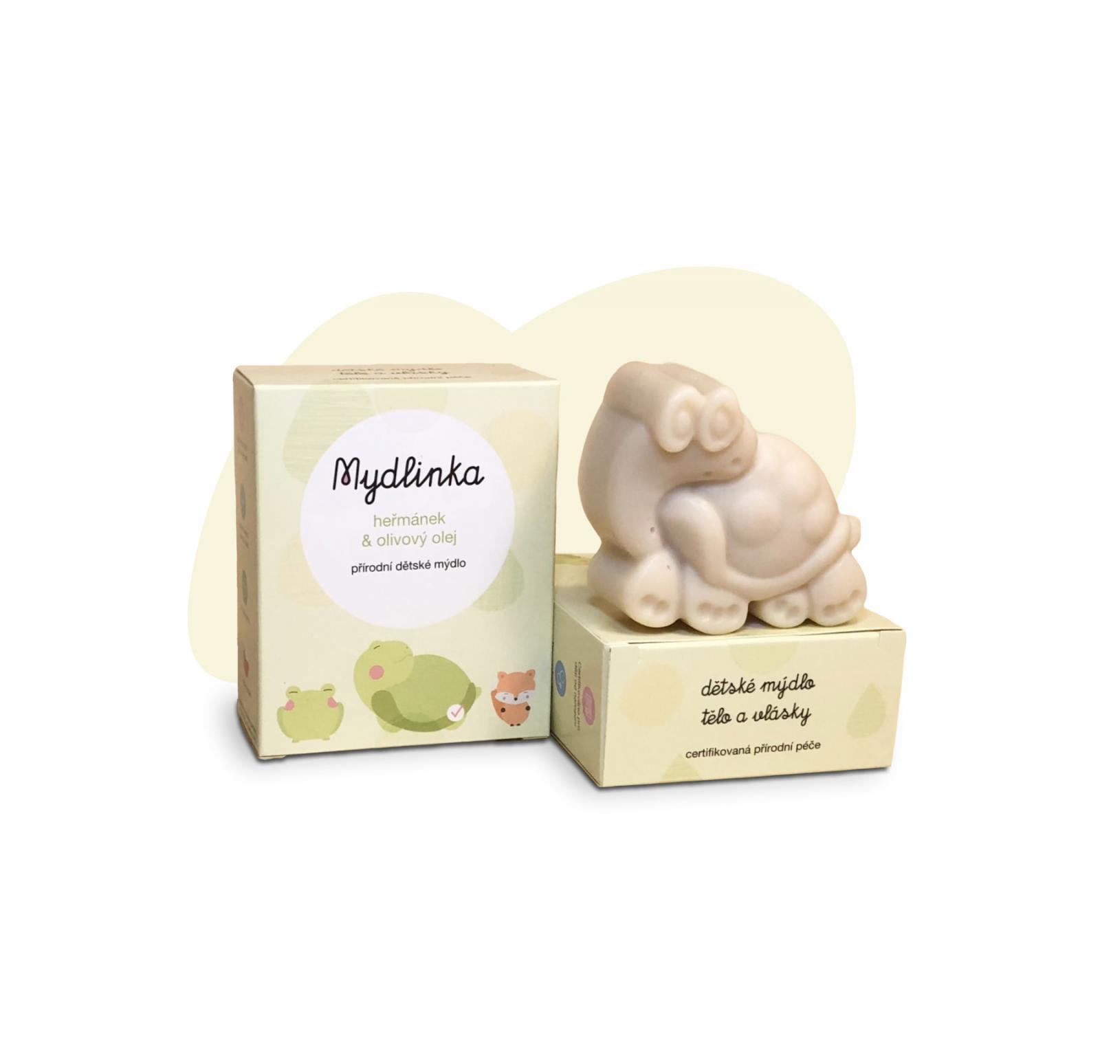 Dětské přírodní heřmánkové mýdlo Mydlinka