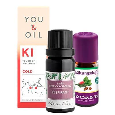 Směsi éterických olejů proti nachlazení