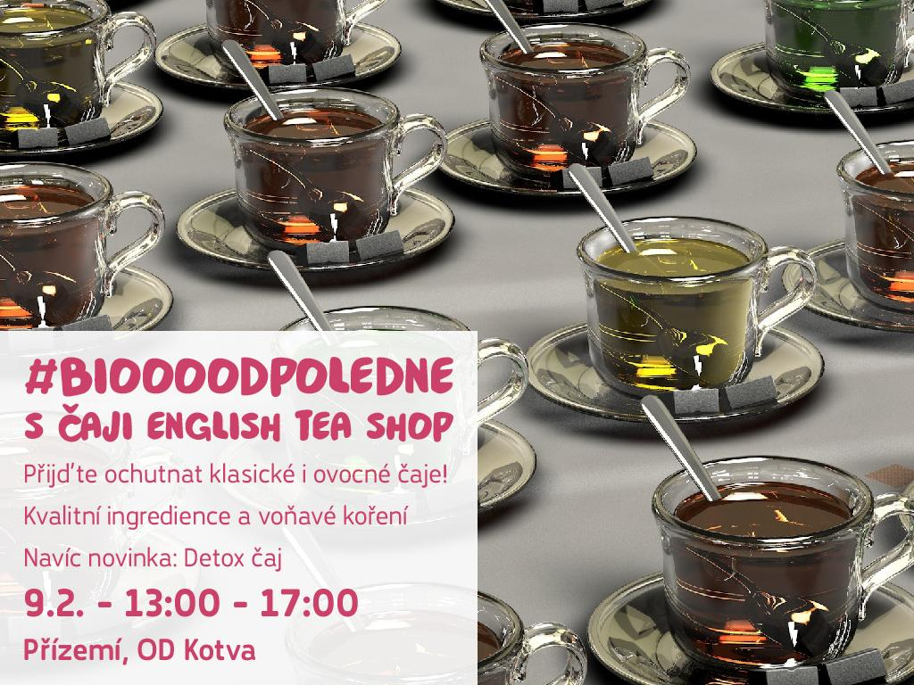 Biooo odpoledne s detox čajem English Tea Shop