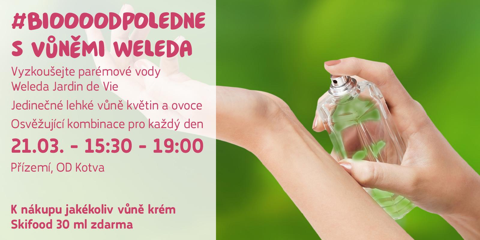 Biooo odpoledne s parfémy Weleda