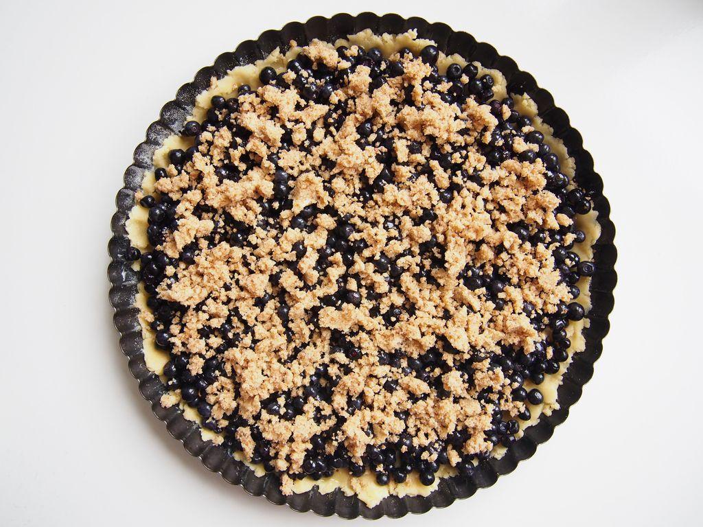 Borůvkový koláč skoro bez cukru