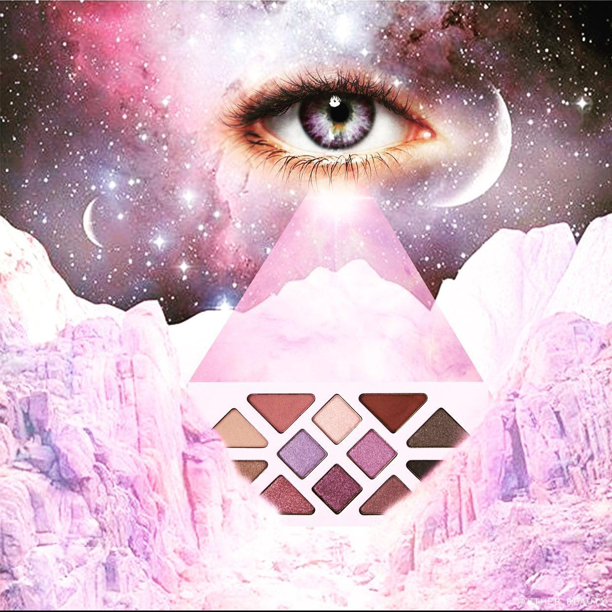 Aether Beauty líčící paletka Amethyst Crystal Gemstone inspirovaná vesmírem