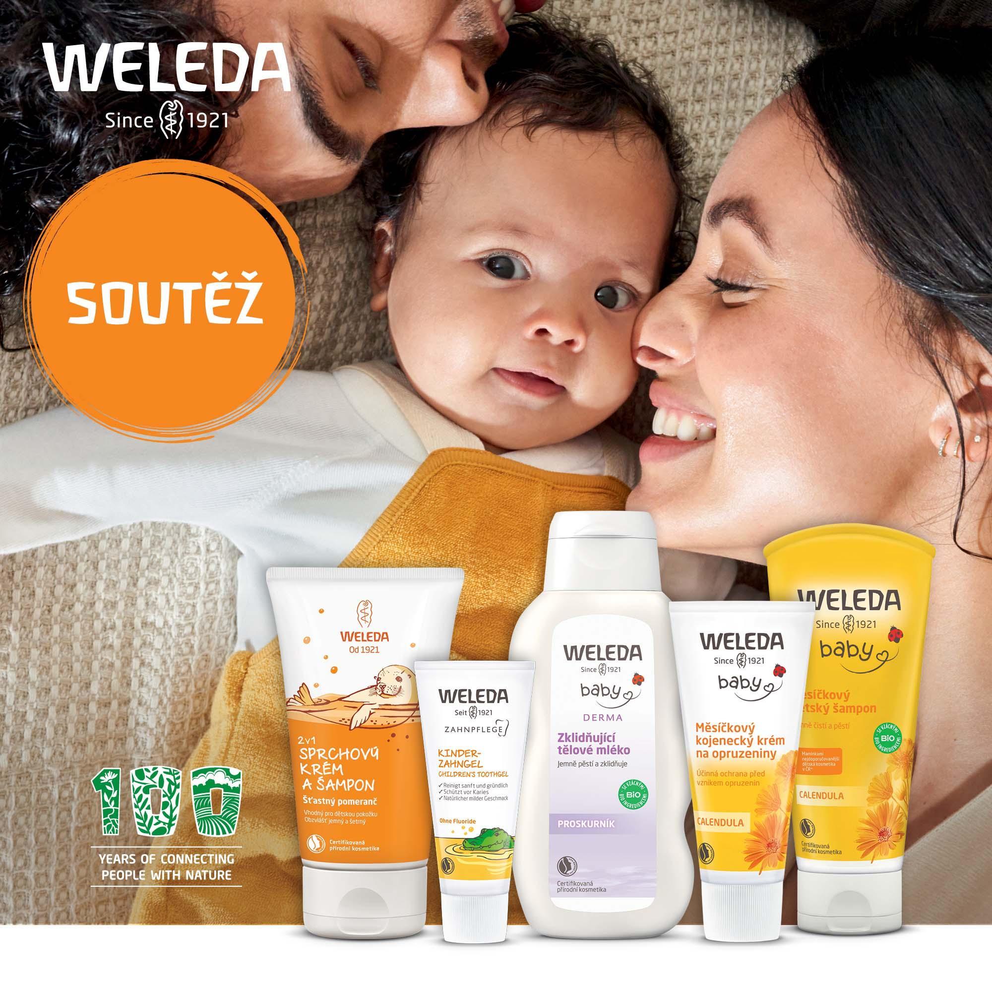 Soutěž na tělovou péči pro děti od Weledy