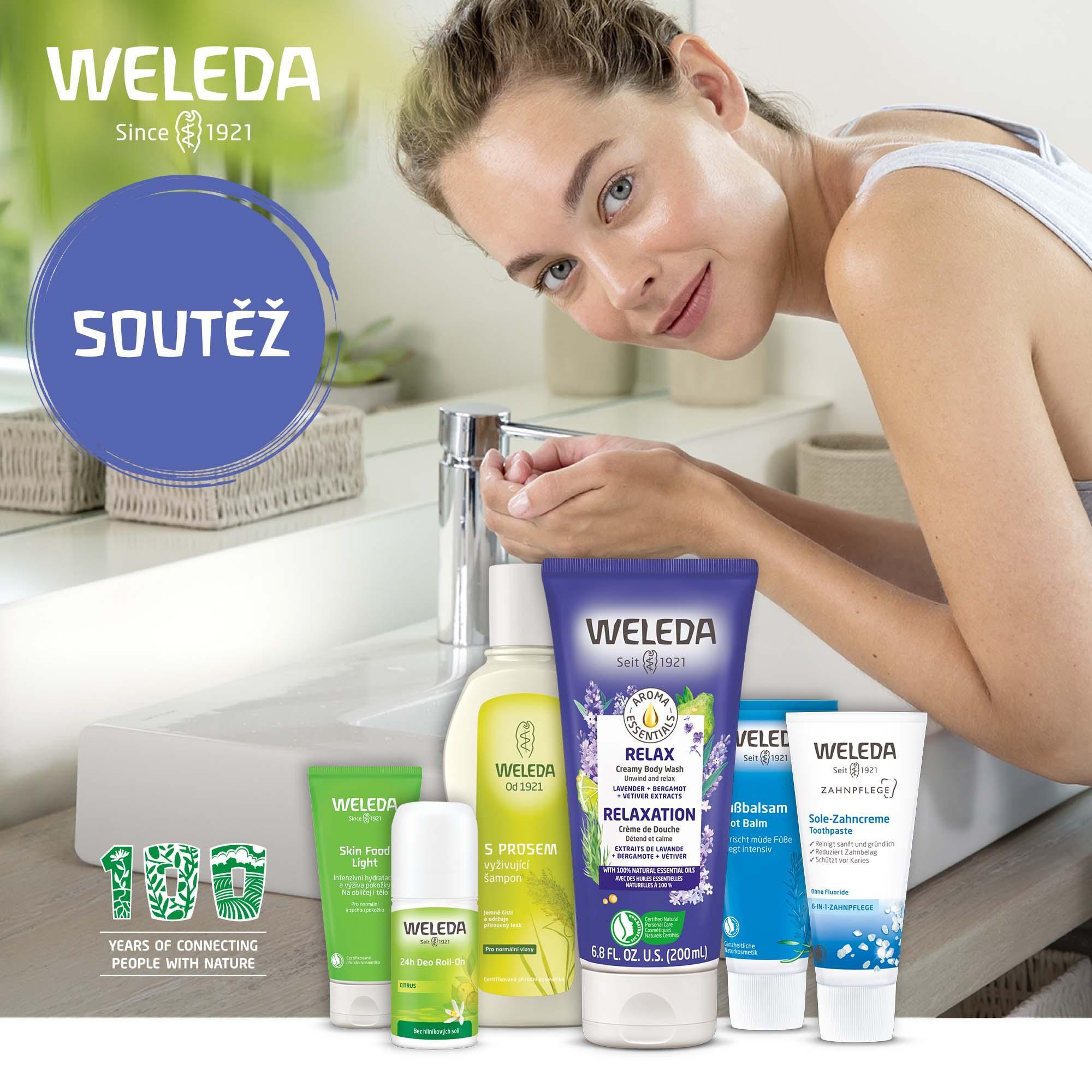 Soutěž o sprchové a pleťové produkty od Weledy