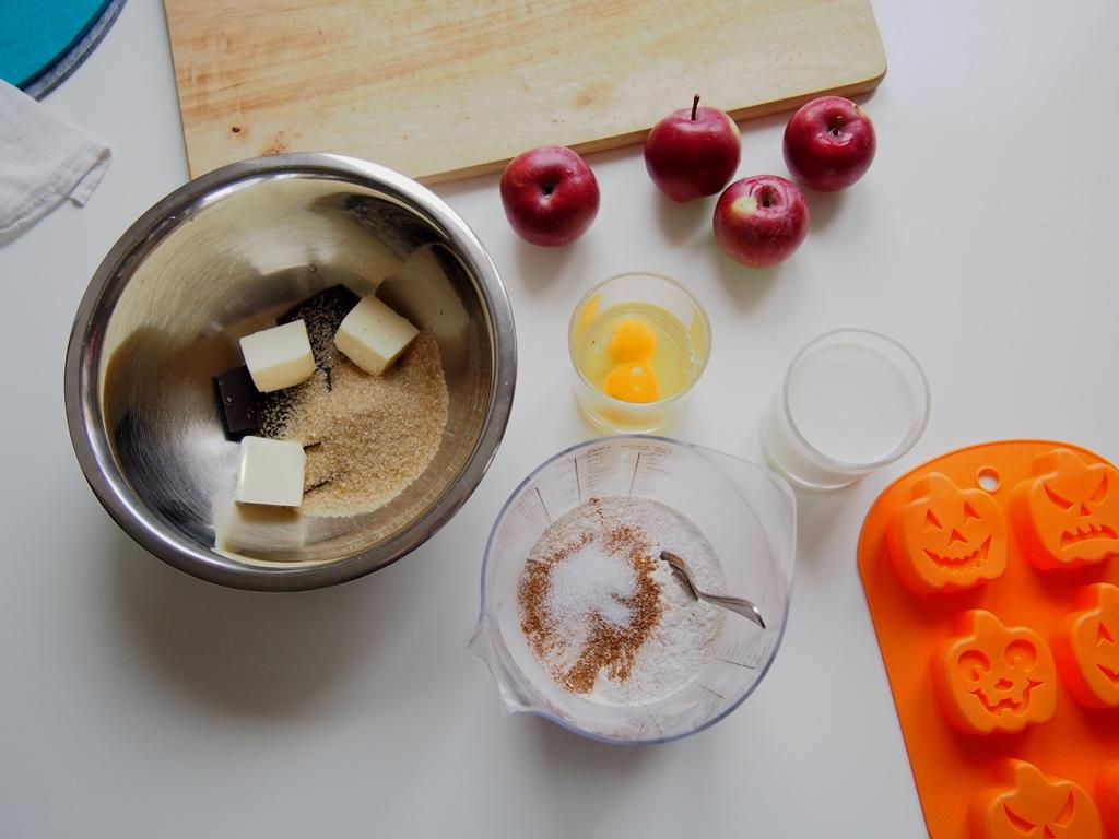 Halloweenské koláčky s jablky a stévií