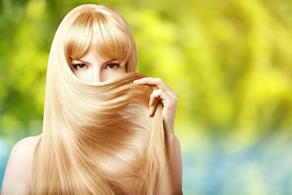 Heřmánek na světlé vlasy