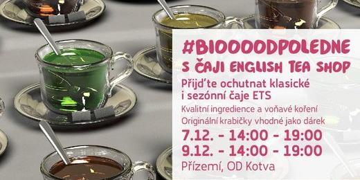 Biooo odpoledne s čaji English Tea Shop