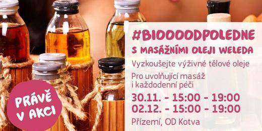 Biooo odpoledne s masážními oleji Weleda