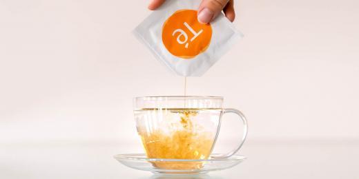 čaj, český startup čaj, Fluidum Té, připravený čaj