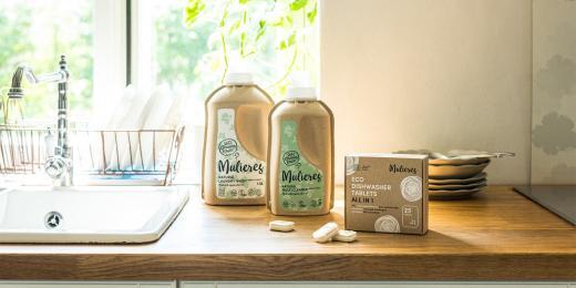 Prací mýdlo a tabletky do myčky od Mulieres
