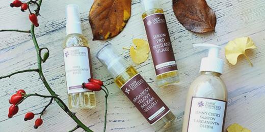 produkty Zahir s podzimním listím a šípky