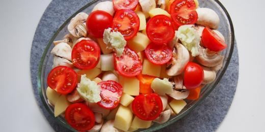 Pečete zeleninu s kokosovým olejem?