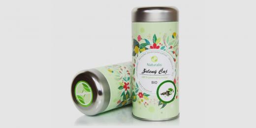 zelený čaj naturalis v plechové dóze