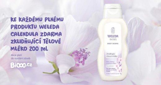 Vyzkoušejte zklidňující tělové mléko Weleda!