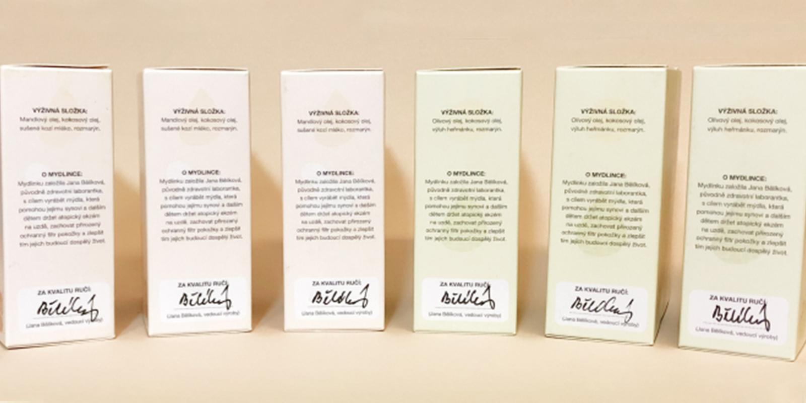 Podepsané produkty Mydlinka
