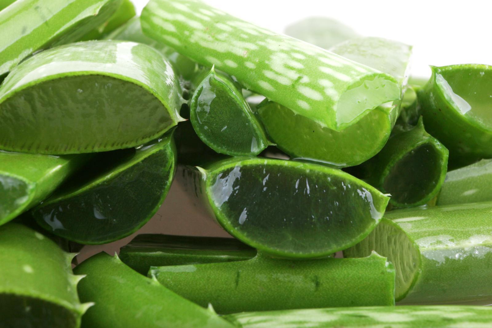 Listy aloe vera ukrývají dužinu, která má na naši pleť blahodárné účinky.
