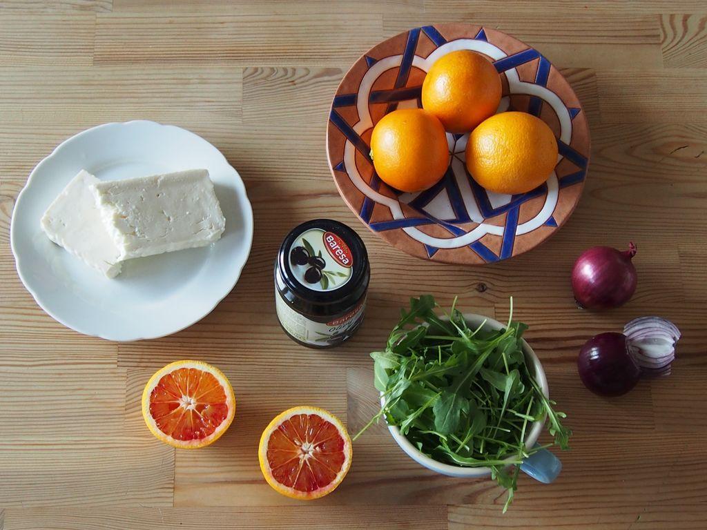 Salát s červeným pomerančem pro posílení imunity
