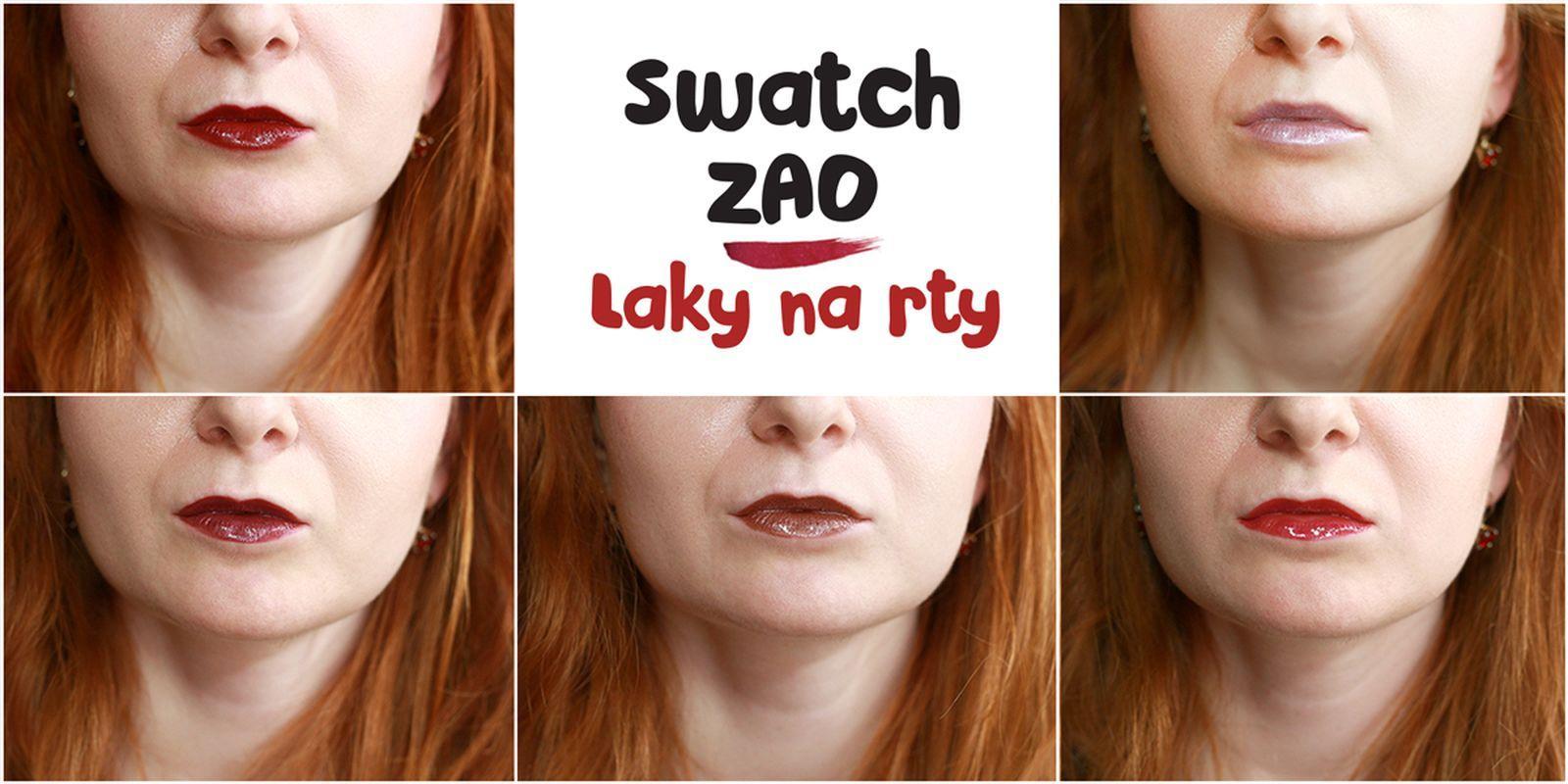 Swatch: Laky na rty ZAO