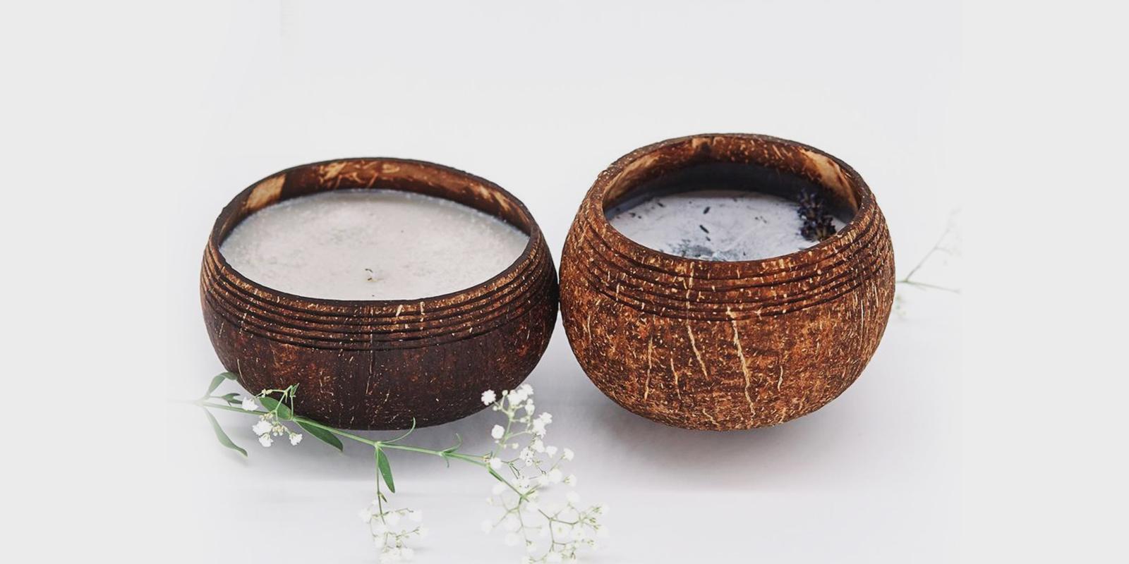 TROPIKALIA svíčka v kokosu s levandulí