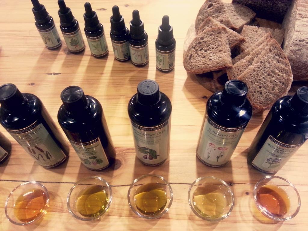 Většinu olejů jsme také ochutnaly.