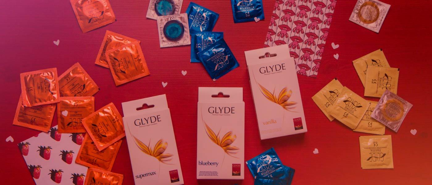 Glyde kondomy z latexu, dle veganského kodexu!