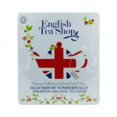 English Tea Shop Dárková sada čajů Diamond Jubilee, plechová kazeta, bio 132 g, 72 ks