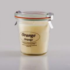 Kerzenfarm Přírodní svíčka Orange, čiré sklo 8,7 cm