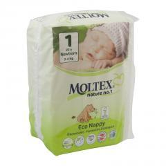 Moltex Dětské plenky Newborn 2-4 kg 23 ks