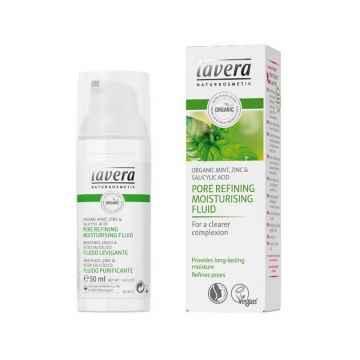 Lavera Hydratační fluid zjemňující Máta & Zinek, Faces 50 ml