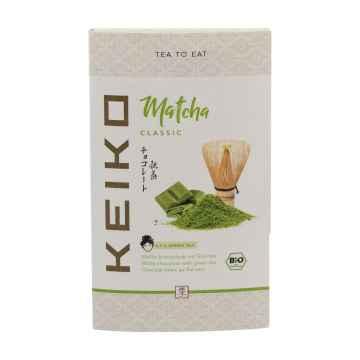 Keiko Čokoláda se zeleným čajem Green Kiss, bio 30 g