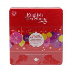 English Tea Shop Vánoční červené ozdoby, plechová kazeta 108 g, 72 ks