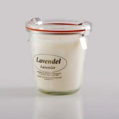 Kerzenfarm Přírodní svíčka Lavender, čiré sklo 8,7 cm