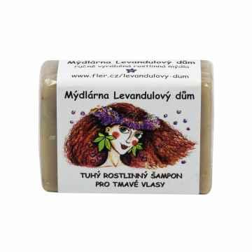 Mýdlárna Levandulový dům Tuhý šampon pro tmavé vlasy 120 g