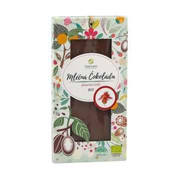 Naturalis Čokoláda mléčná s chilli, bio 80 g