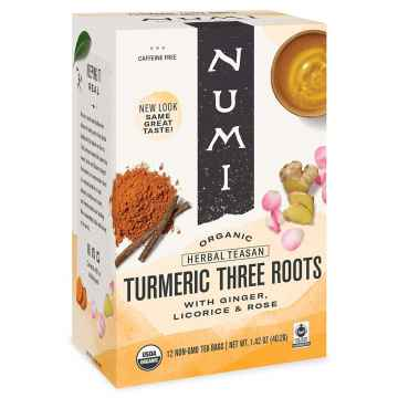Numi Organic Tea Kořeněný čaj Three Roots, Turmeric Tea 40,2 g, 12 ks