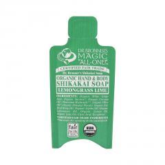 Dr. Bronner's Tekuté mýdlo na tělo i vlasy Shikakai, Lemongrass-Lime 10 ml