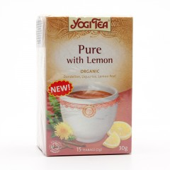 Golden Temple Čaj Yogitea Pure, Detox with Lemon 17 ks, 30 g