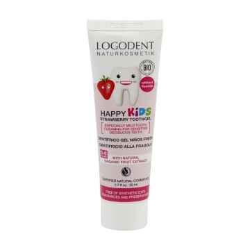 Logona Zubní gel dětský jahoda, Logodent Kids 50 ml