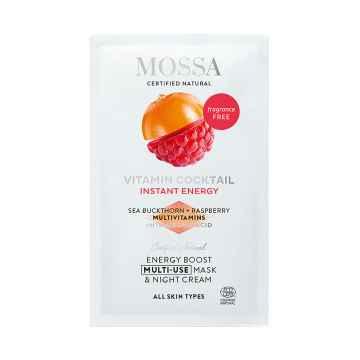 MOSSA Energizující noční krém a maska, Vitamínový koktejl 5 ml