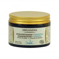Argandia Černé tuhé mýdlo Hamman 150 g